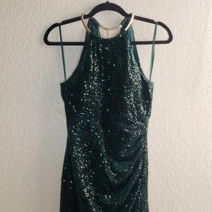 Eliza J Velvet Sequin Dress